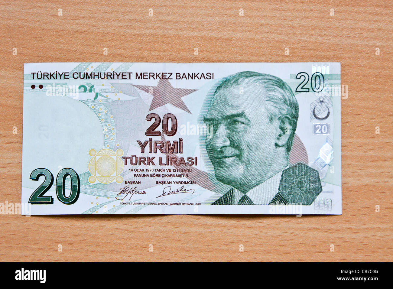 Turkish money (lira) Stock Photo