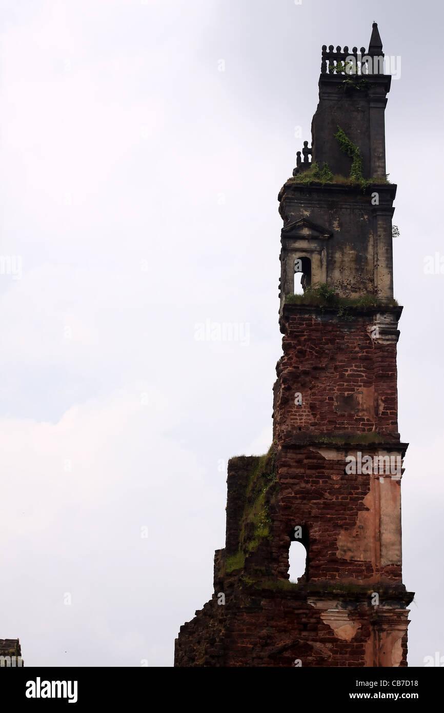 Ruins in Goa, India - Stock Image