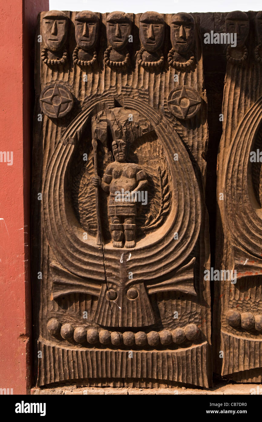 India Nagaland Tuophema Traditionally Carved Wooden Kharu Gate