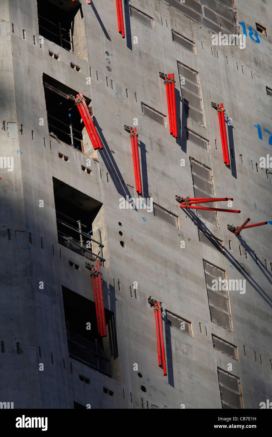 Construction of new office block by London Bridge, England UK - Stock Image