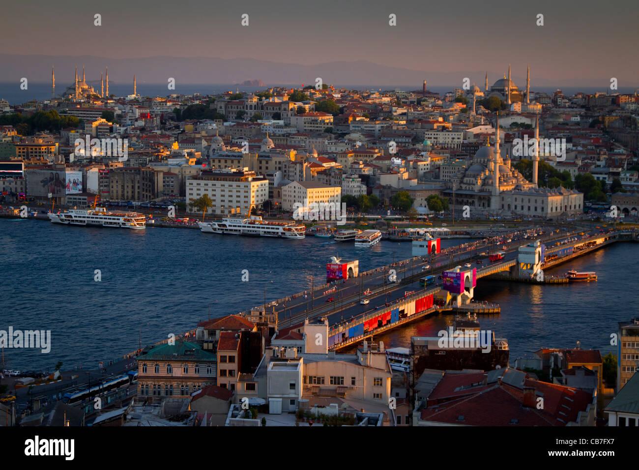 Golden Horn. Istanbul, Turkey. - Stock Image