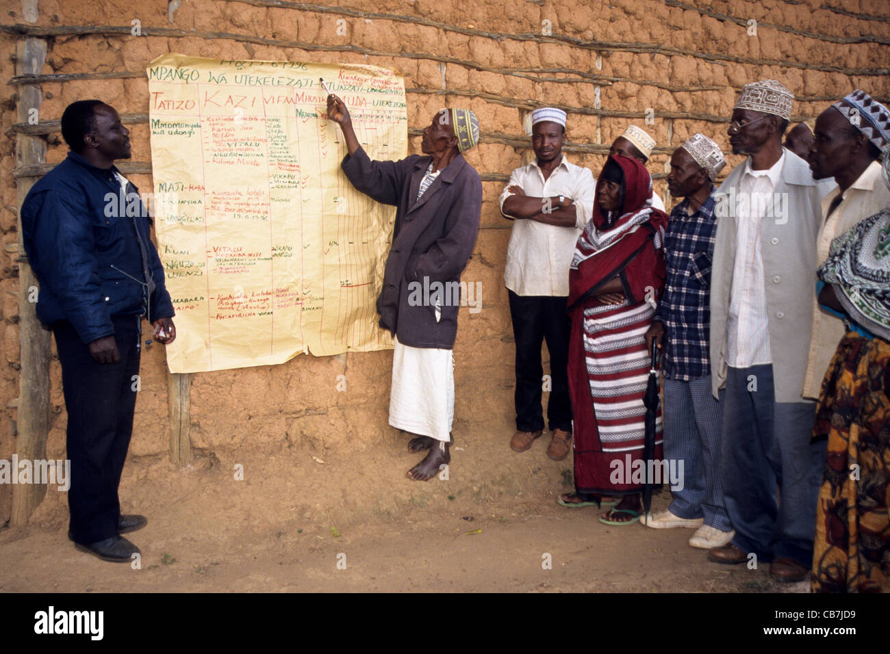 Participatory project planning with farmers Lushoto Tanzania - Stock Image