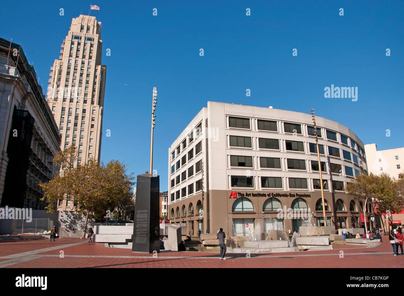 Civic Center San Francisco California USA American United States of America - Stock Image