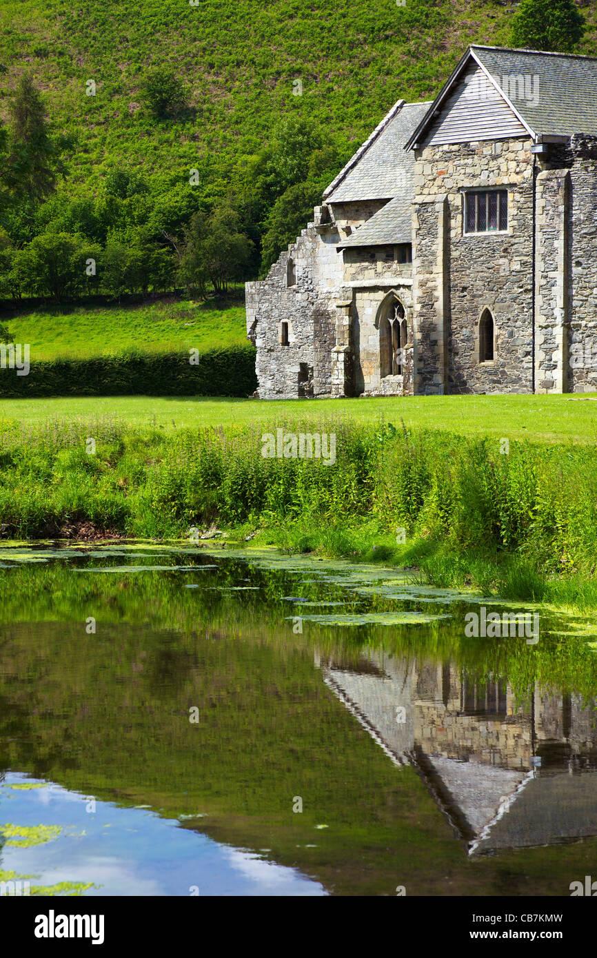 Valle Crucis ruined Cistercian abbey in Llantysilio, near Llangollen, Wales, Cymru, UK, United Kingdom, GB, Great Stock Photo