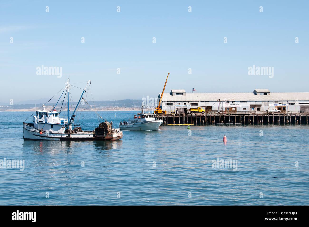 Monterey California Port Harbor USA American United States of America - Stock Image