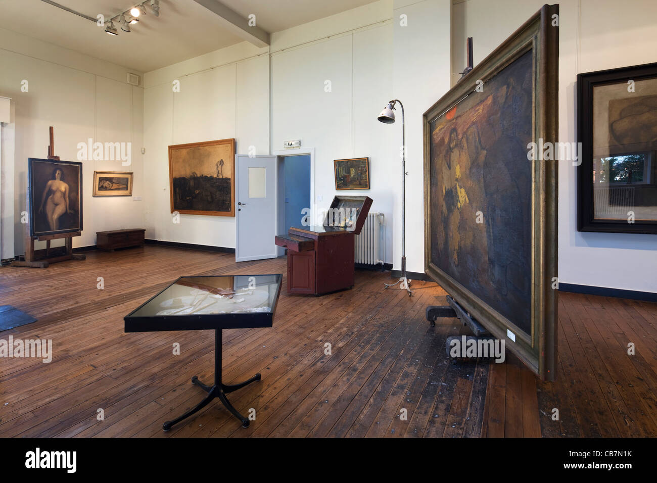 Interior of museum Constant Permeke, Belgian painter and sculptor and leading figure of Flemish expressionism, Jabbeke, - Stock Image
