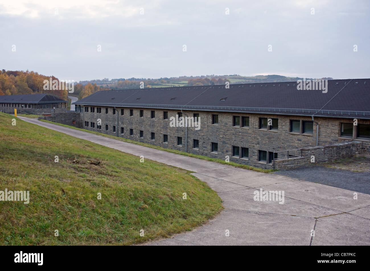 Comradeship-houses at Ordensburg Vogelsang, a former Nazi training camp, North Rhine-Westphalia, Germany. - Stock Image