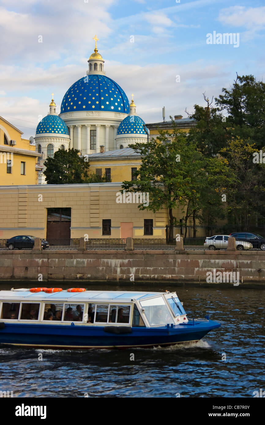 Trinity Cathedral by Neva River, Saint Petersburg, Russia - Stock Image