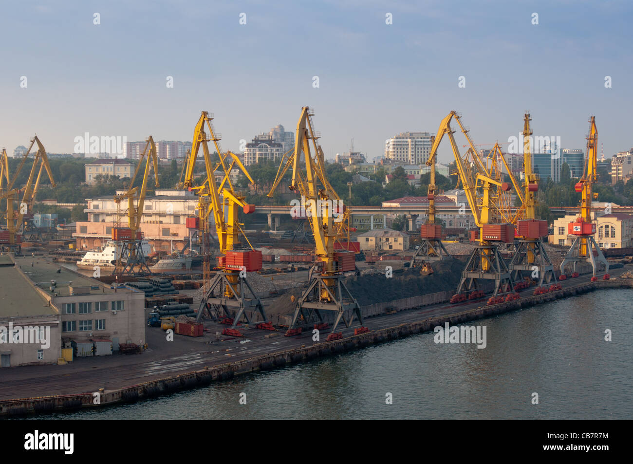 Heavy industry at Odessa's port. Ukraine. - Stock Image