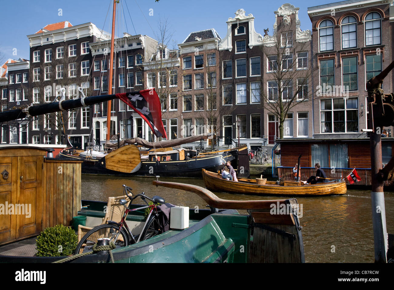 Prinsengracht, Amsterdam, The Netherlands - Stock Image