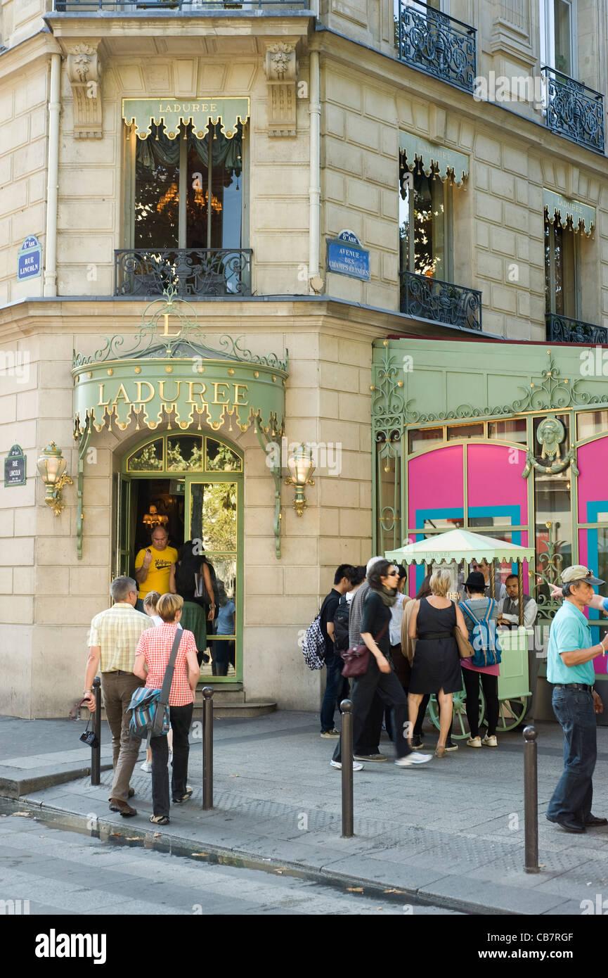 Paris, France - Laduree shop - Stock Image
