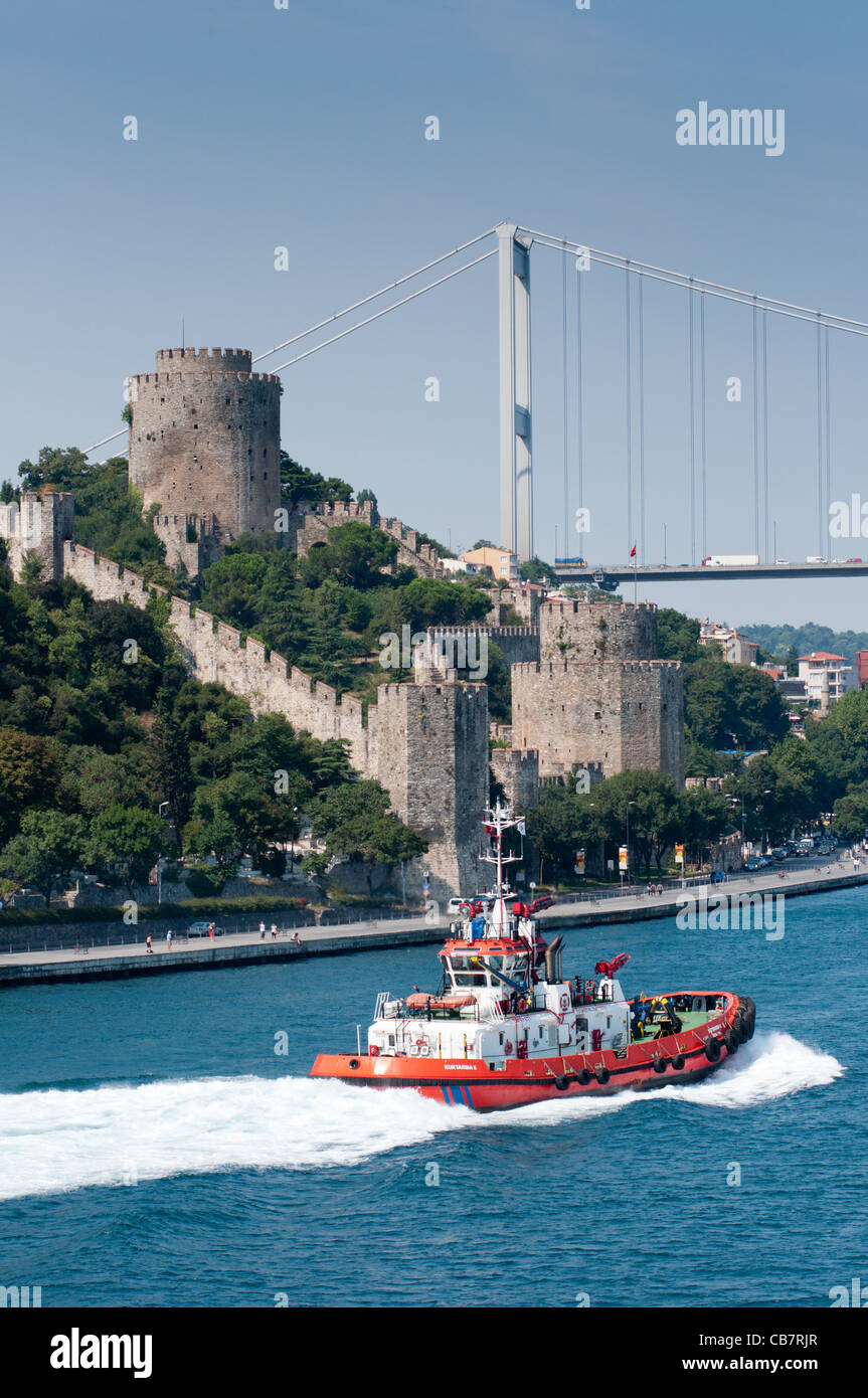 Rumeli Fortress on the Bosporus, Istanbul Turkey. 2011. Stock Photo