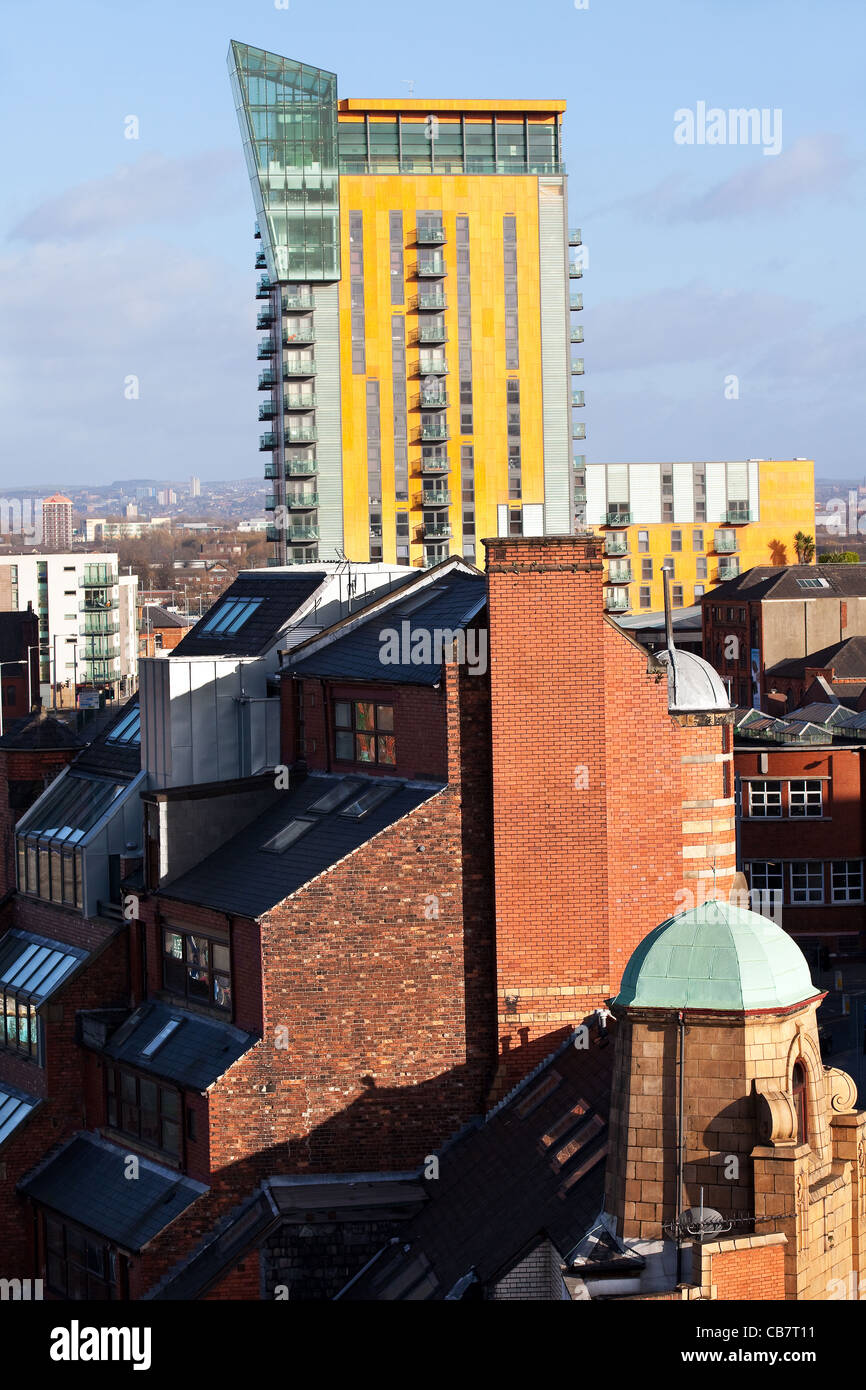 The Roofline or Skyline of Manchester   Crane Wharf  Place or Skyline Central, Northern Quarter, Manchester, UK Stock Photo