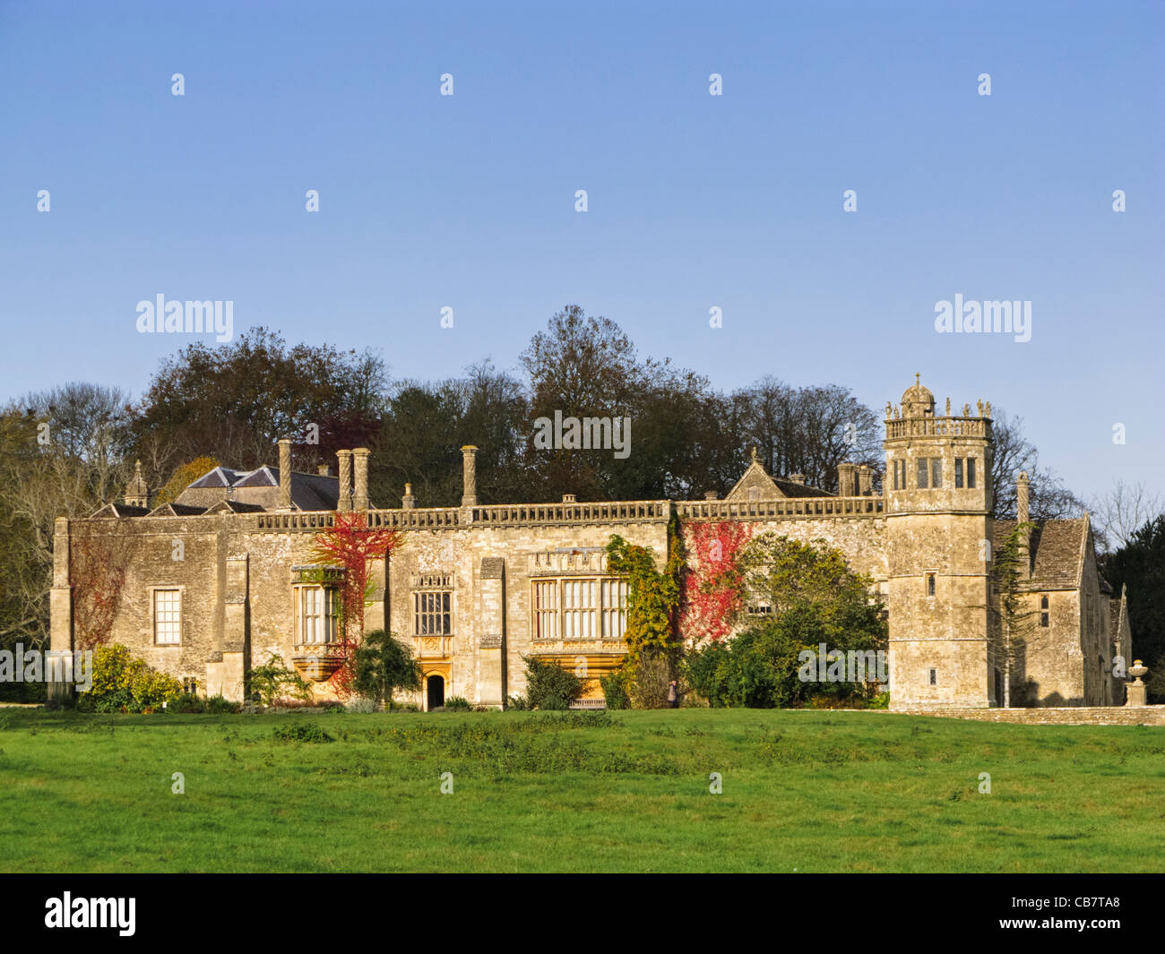 Lacock Abbey - country house in Wiltshire, South West England, UK - Stock Image
