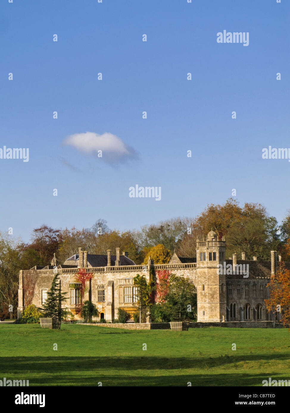 Lacock Abbey - old, historic country house in Wiltshire, England, UK - Stock Image