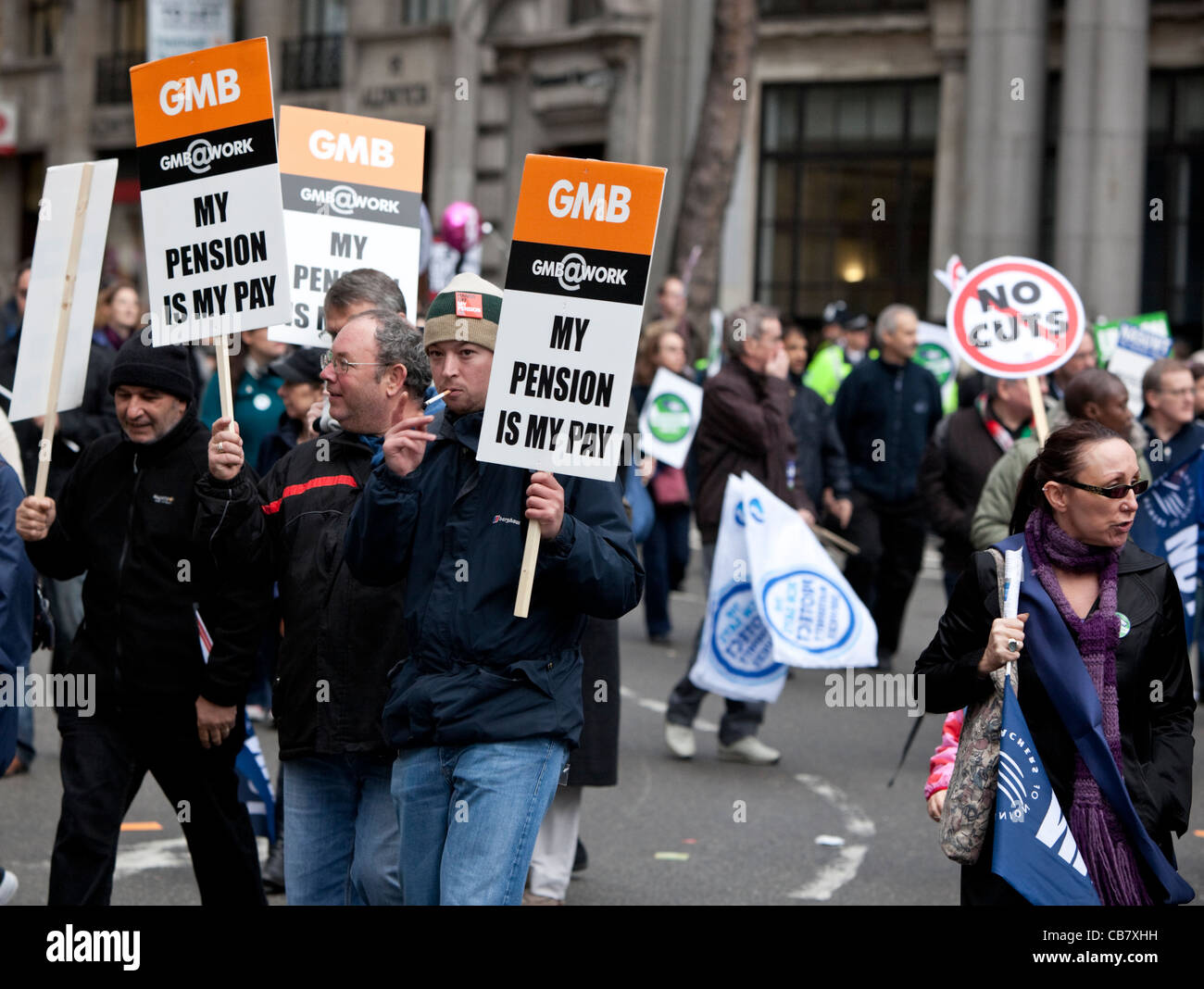 Public sector strike,the unions, 2011, London, England, UK - Stock Image
