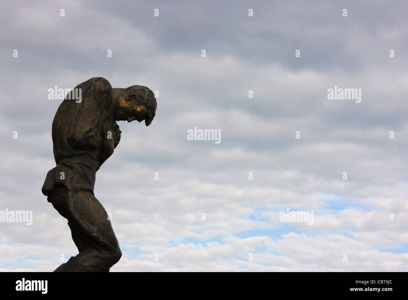 Statue at Museum of the Great Patriotic War, Kiev, Ukraine - Stock Image