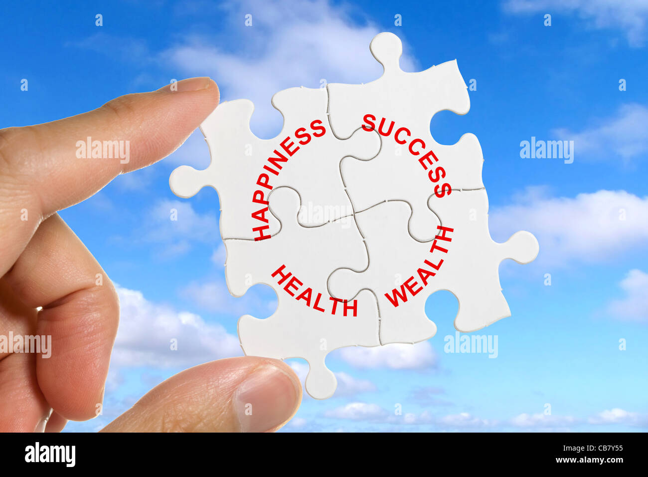 Puzzle, concept of Life Balance - Stock Image