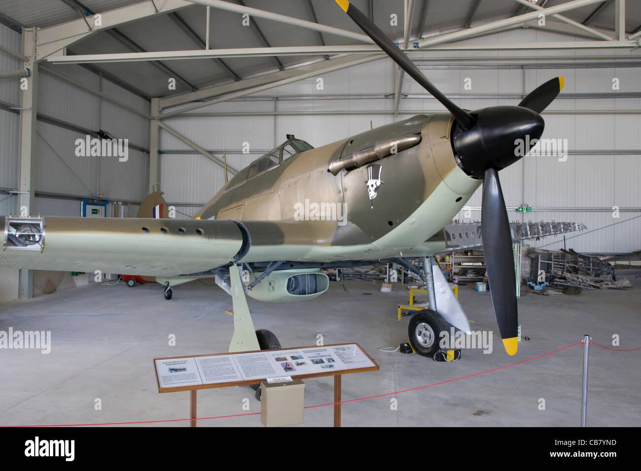 Malta Aviation Museum: Hurricane fighter - Stock Image