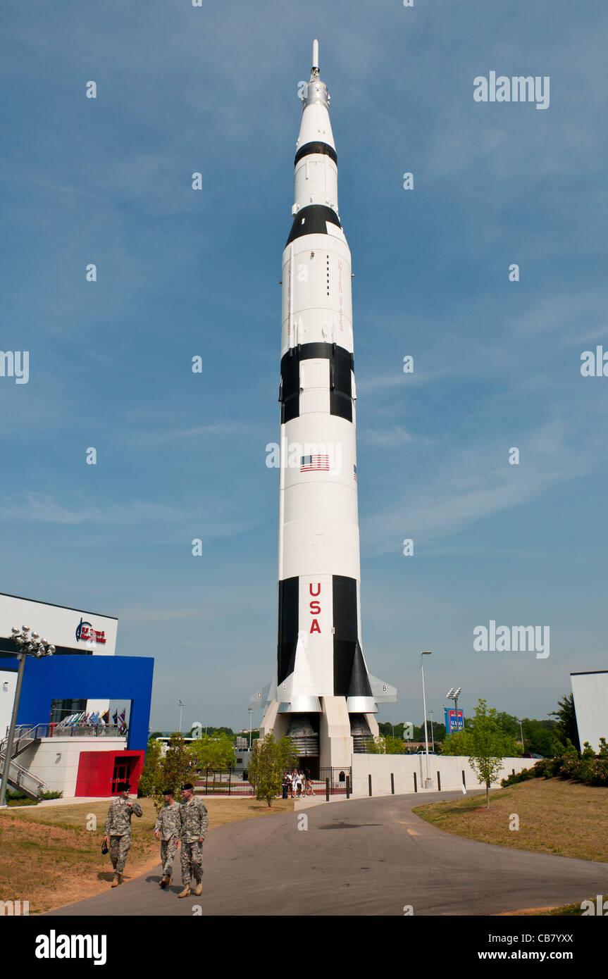 Alabama, Huntsville, U.S. Space & Rocket Center, Saturn V Rocket - Stock Image
