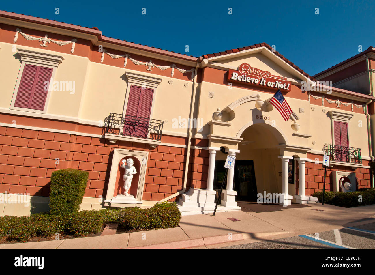 Ripley's Believe It Or Not attraction tilting building on International Drive, Orlando Florida - Stock Image