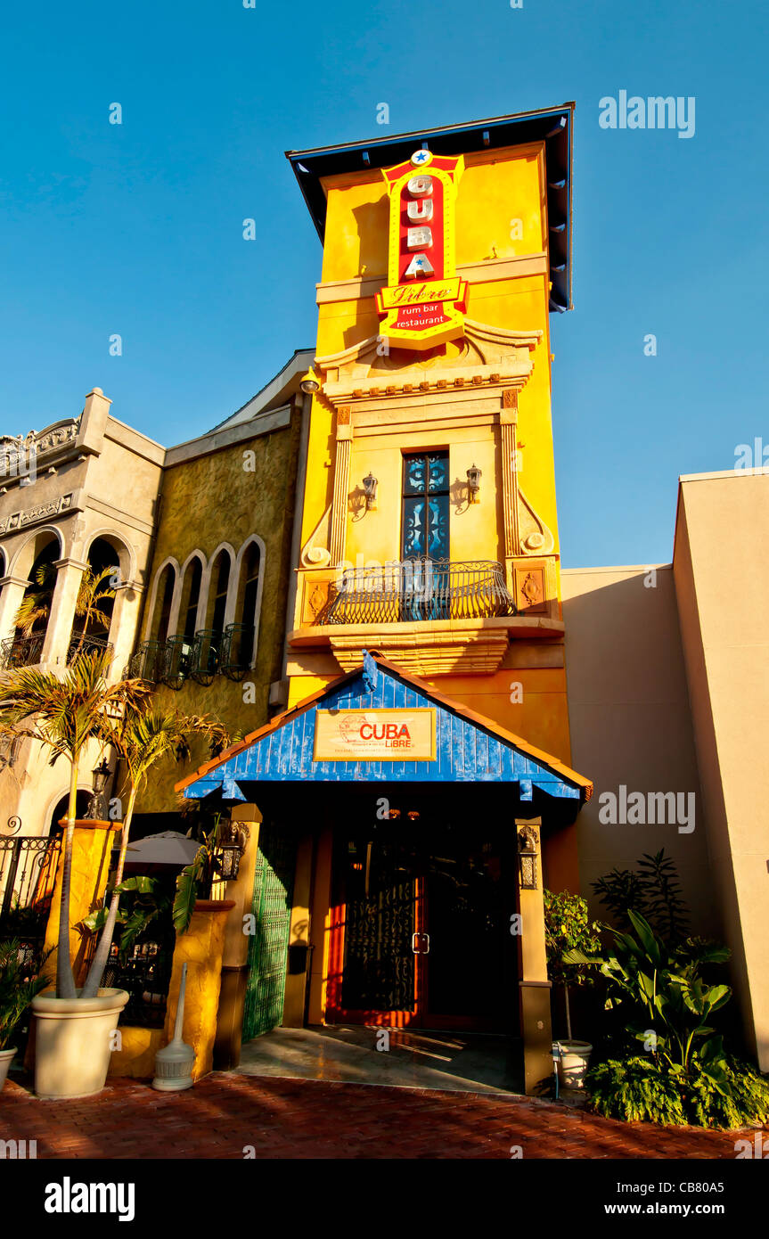 Cuba Libre Restaurant & Rum Bar entrance at Pointe Orlando on International Drive, Orlando Florida - Stock Image