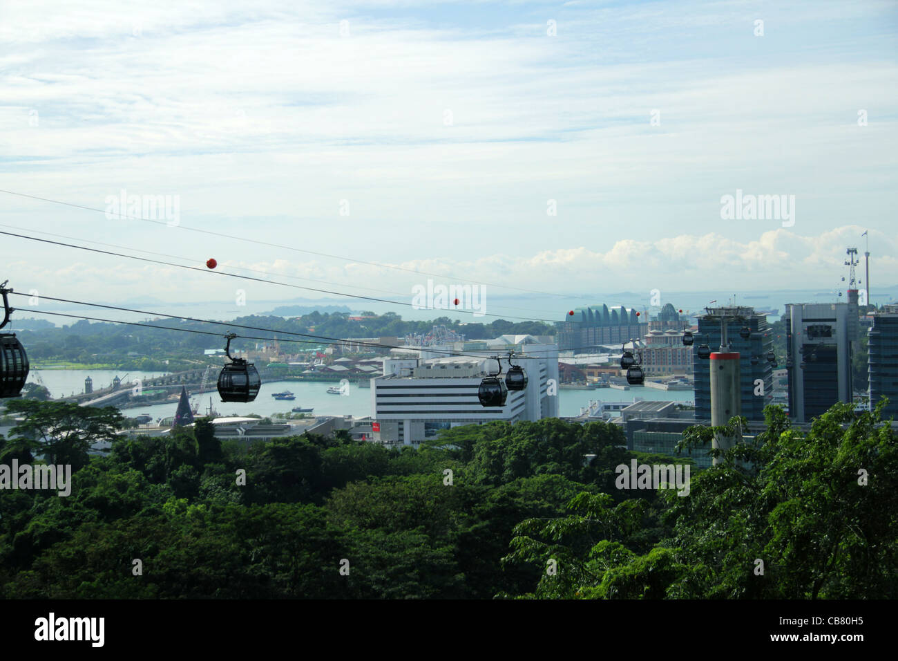 Singapore jewel cable car - Stock Image
