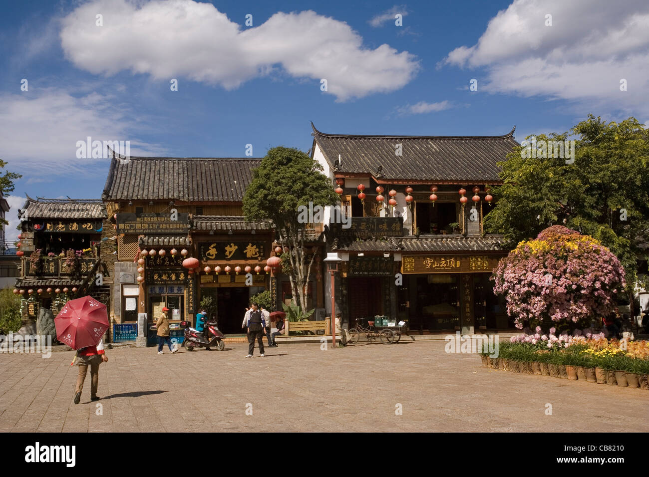 China Yunnan Lijiang, old town main square - Stock Image