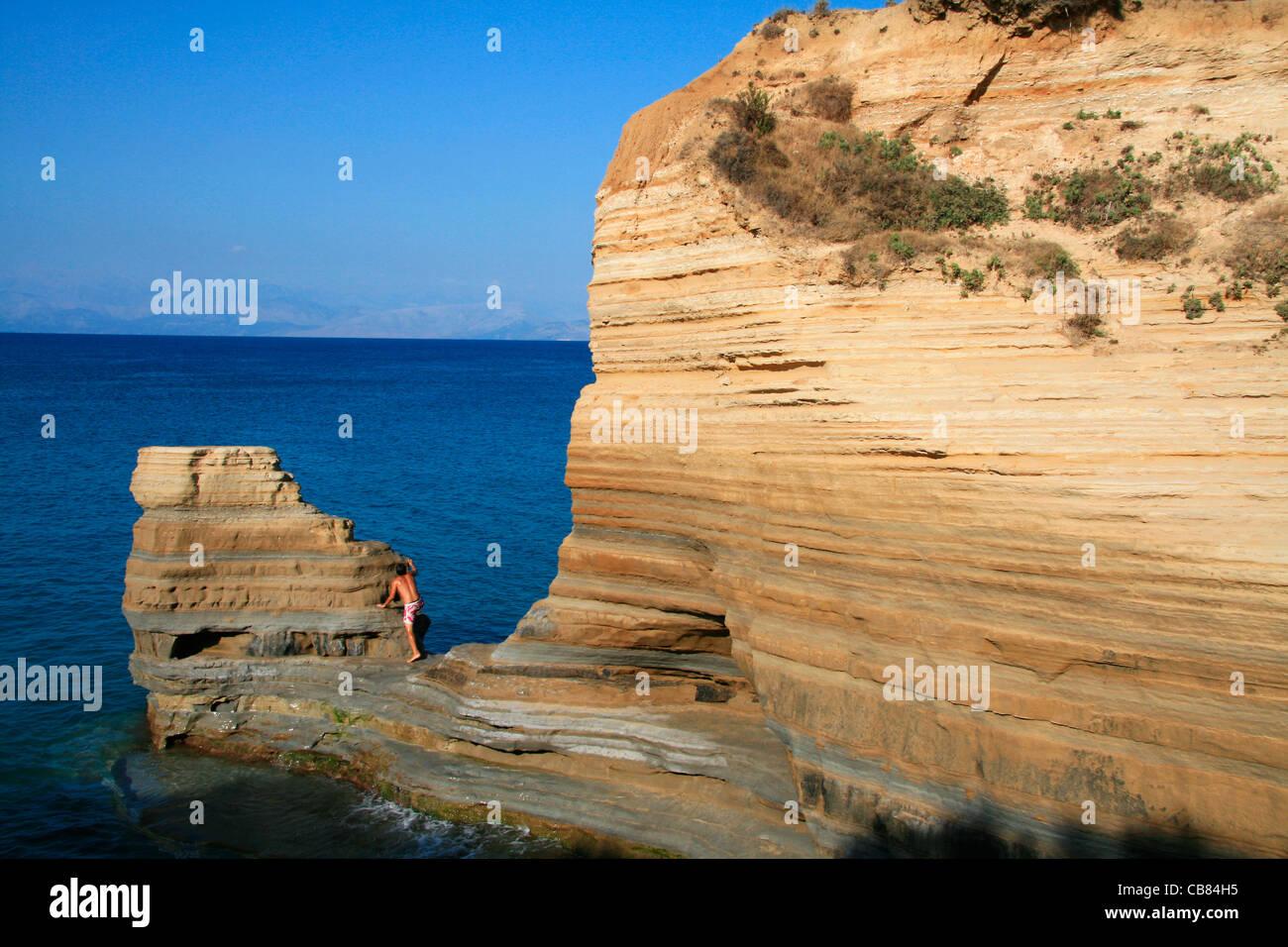 Corfu (Kerkyra), Canal D' Amour, Sidari, sea, beach, island (CTK Photo/Marketa Hofmanova) - Stock Image