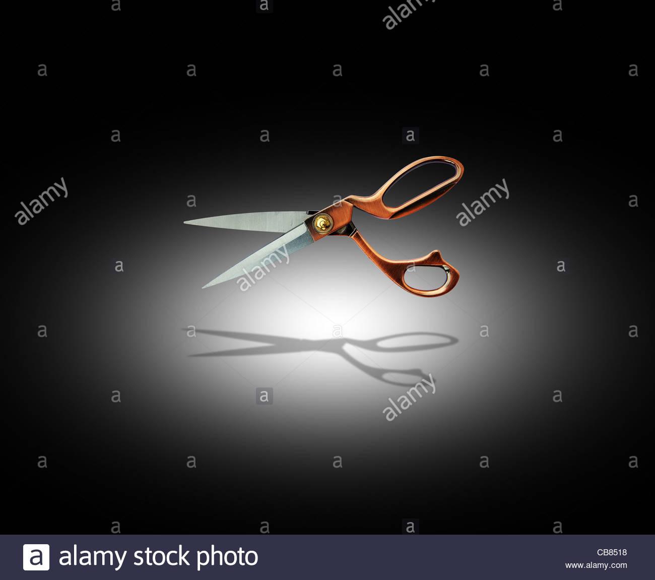 fashion scissors - Stock Image