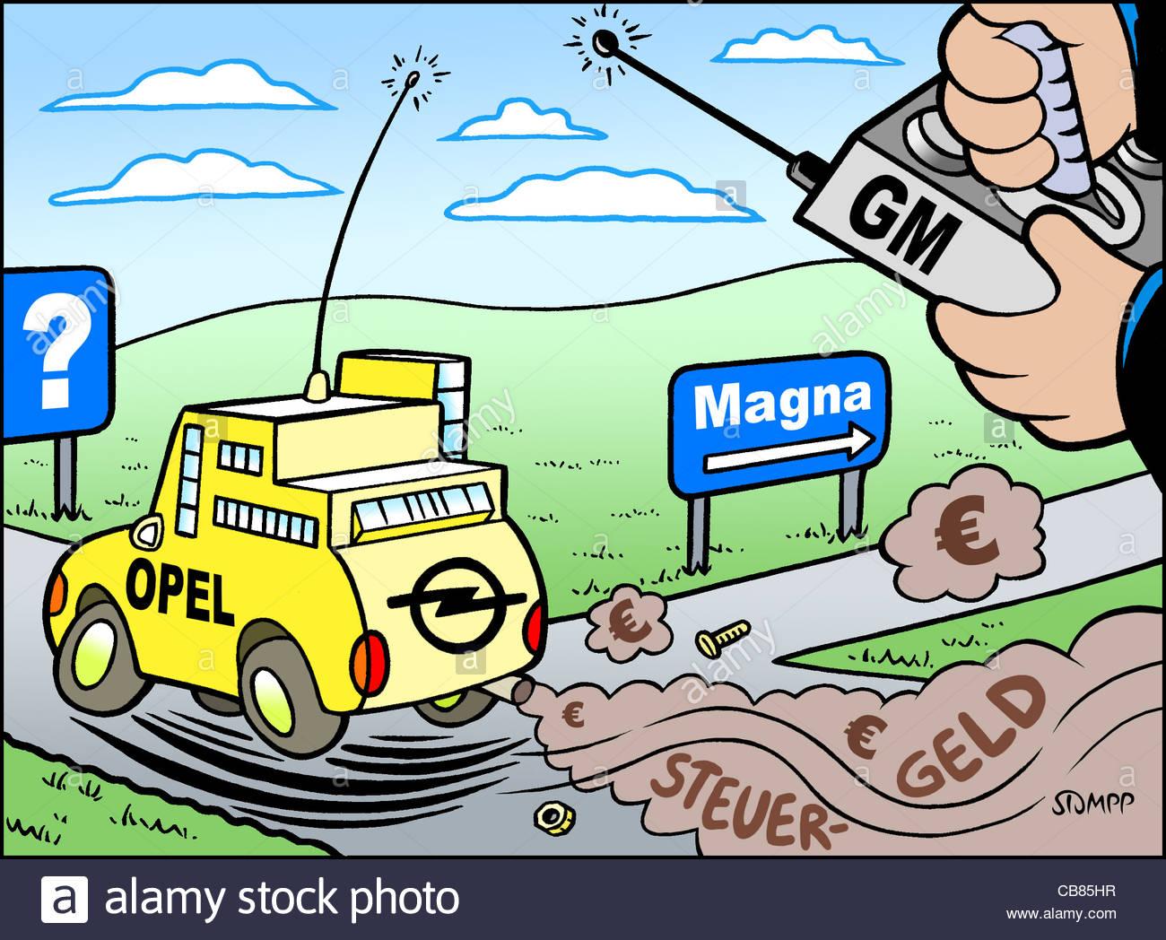 Cartoon Opel joke funny Humor funny funny funny funny humorous Cartoon cart