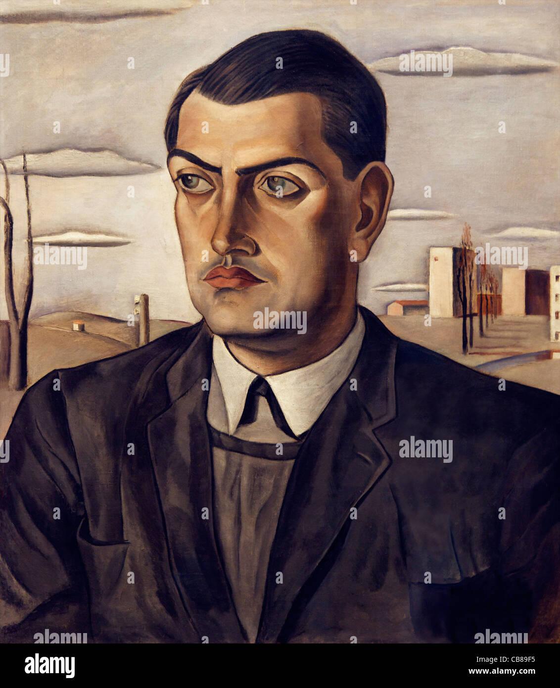 Portrait of Luis Bunuel, Salvador Dali, 1924, Museo Nacional Centro de Arte Reina Sofía Museum of Modern Art Madrid - Stock Image
