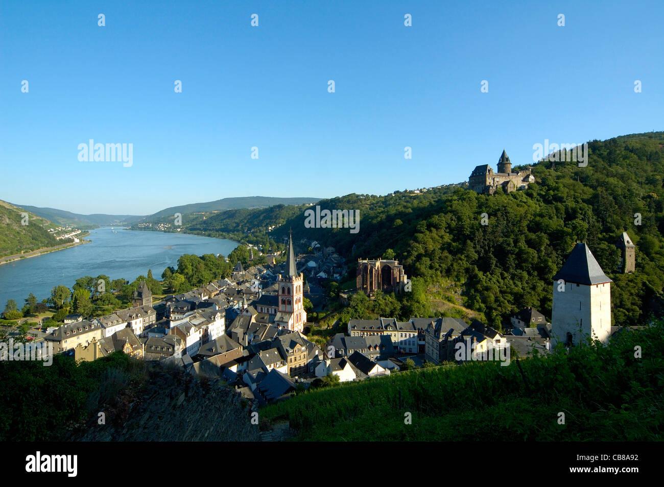 Bacharach am Rhein, Burg Stahleck, Mittelrheintal, Rheinland-Pfalz, Deutschland Stock Photo