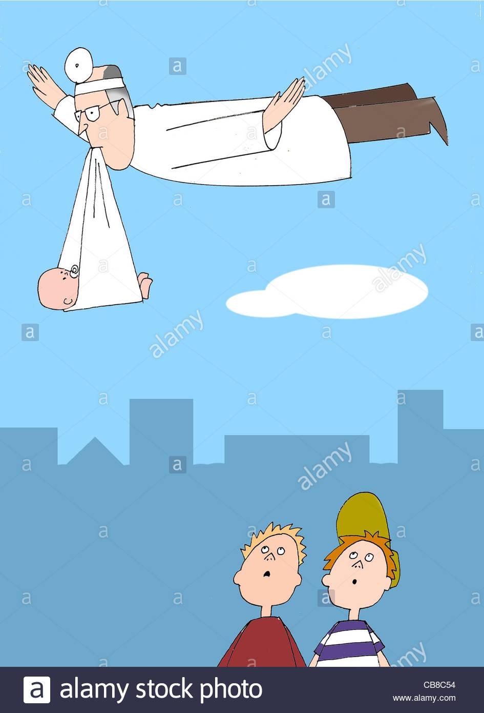 Doctors baby - Stock Image