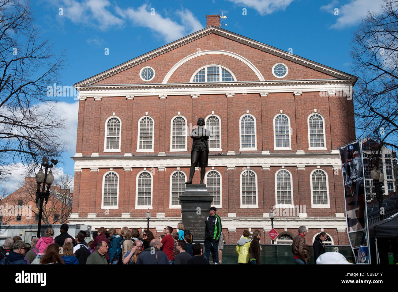 Samuel Adams monument and Faneuil Hall, Boston Stock Photo