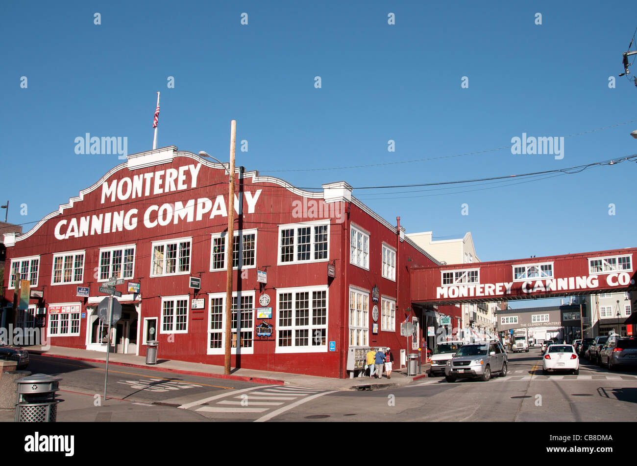 Monterey Canning Company California Port Harbor USA American United States of America - Stock Image