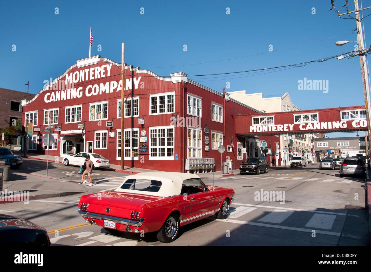 Monterey Canning Company California Port Harbor USA American United States of America - Stock Image