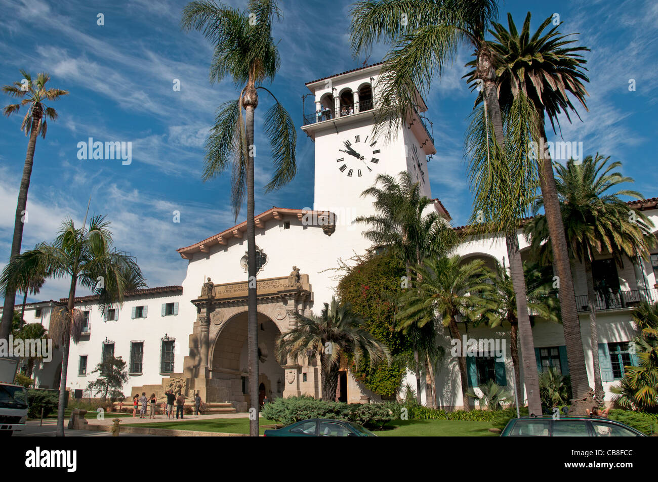 Santa Barbara Courthouse California United States - Stock Image