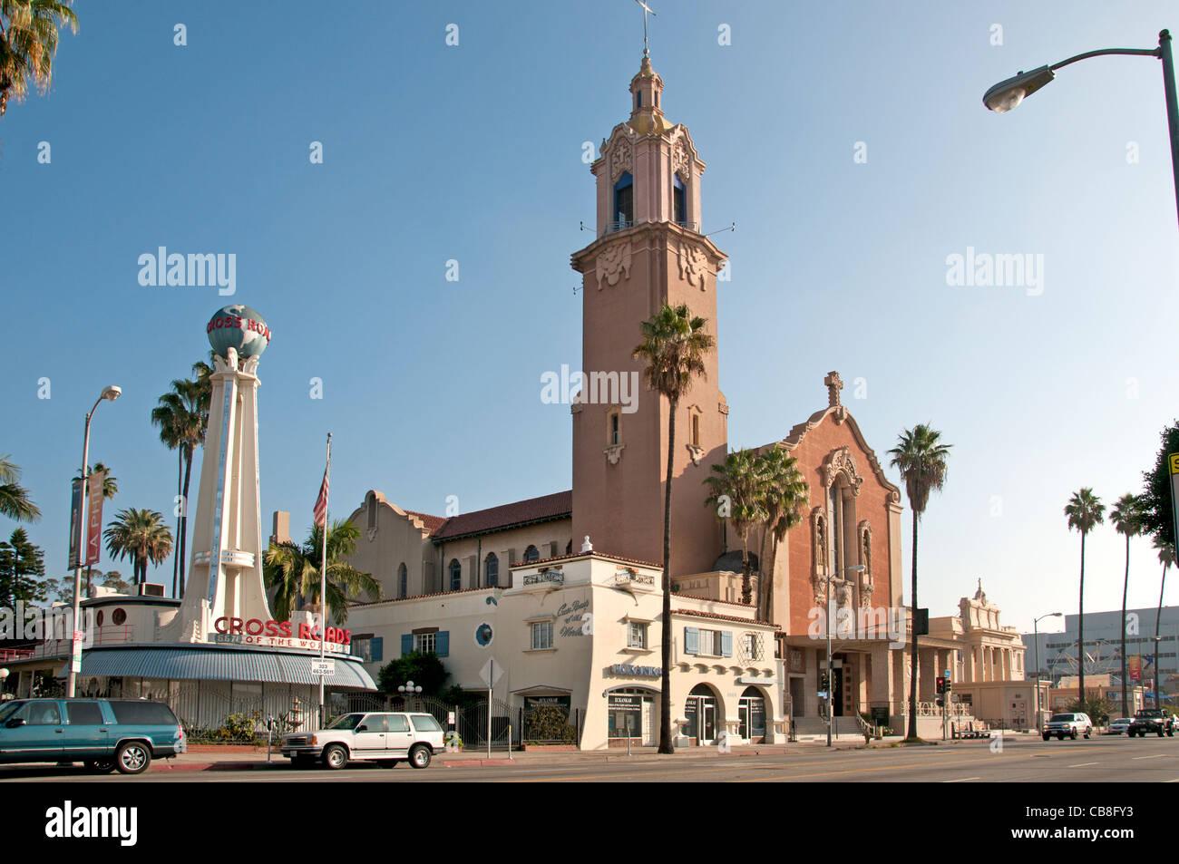Sunset Boulevard  Beverly Hills Los Angeles United States - Stock Image