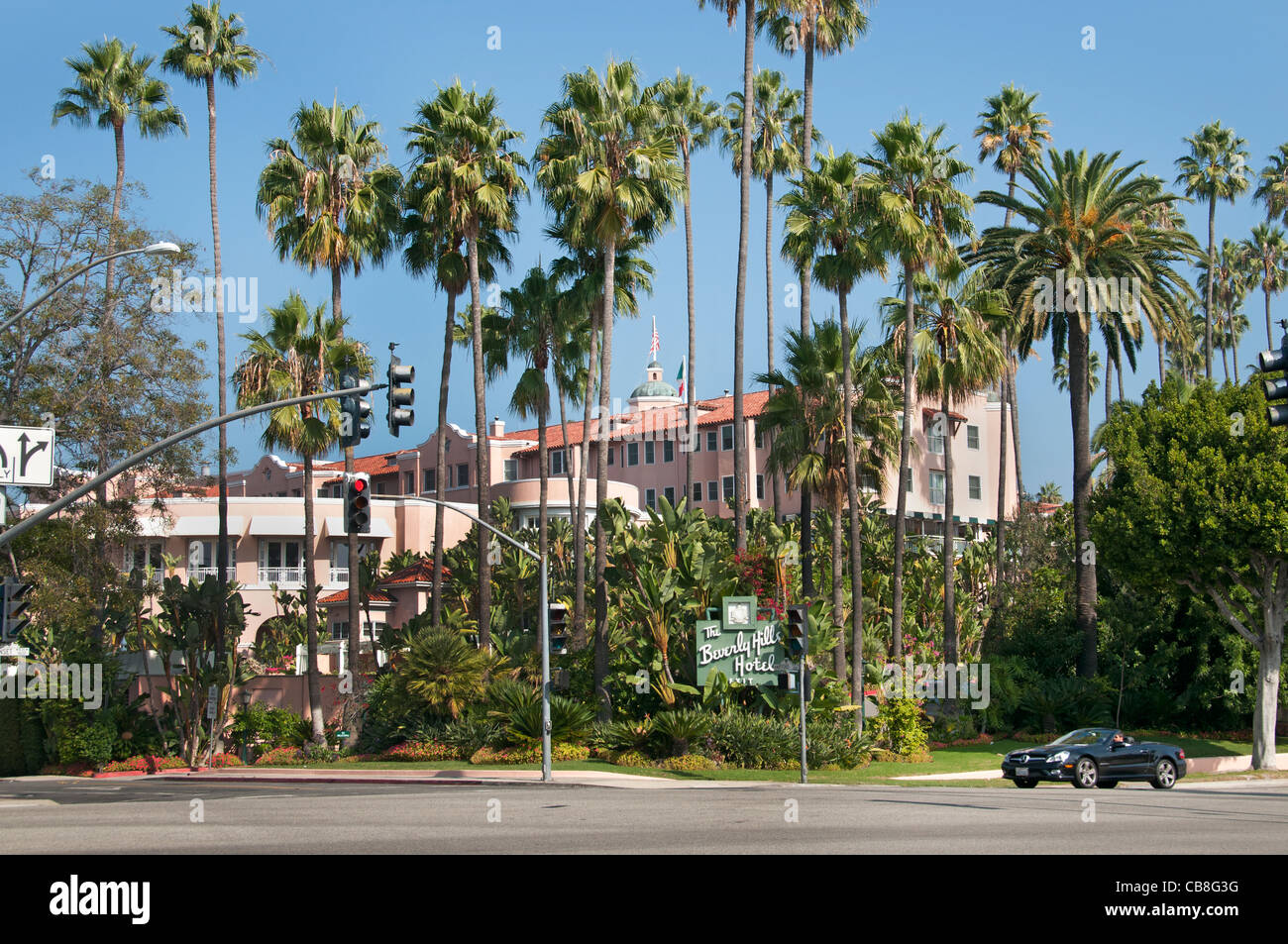 California Hollywood The Beverly Hills Hotel is a luxury, five-star hotel, - Stock Image