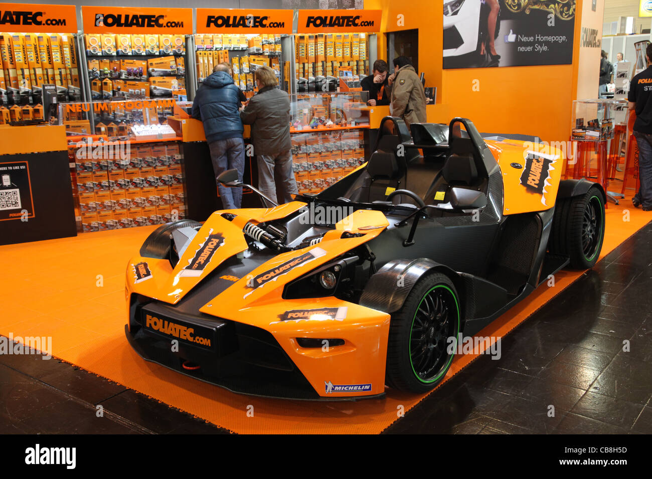 KTM X-BOW at Foliatec stand at the Essen Motor Show in Essen, Germany, on November 29, 2011 - Stock Image