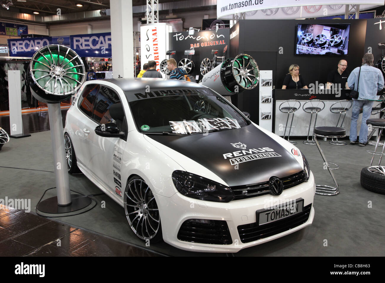 VW Golf GTI shown at the Essen Motor Show in Essen, Germany, on November 29, 2011 - Stock Image
