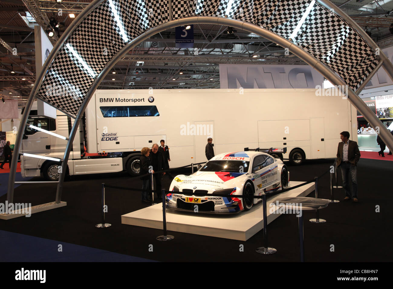 BMW Motorsport stand at the Essen Motor Show in Essen, Germany, on November 29, 2011 - Stock Image