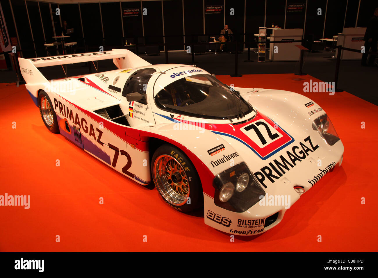 Porsche 926 C Le Mans Racing Car from 1987 shown at the Essen Motor Show in Essen, Germany, on November Stock Photo