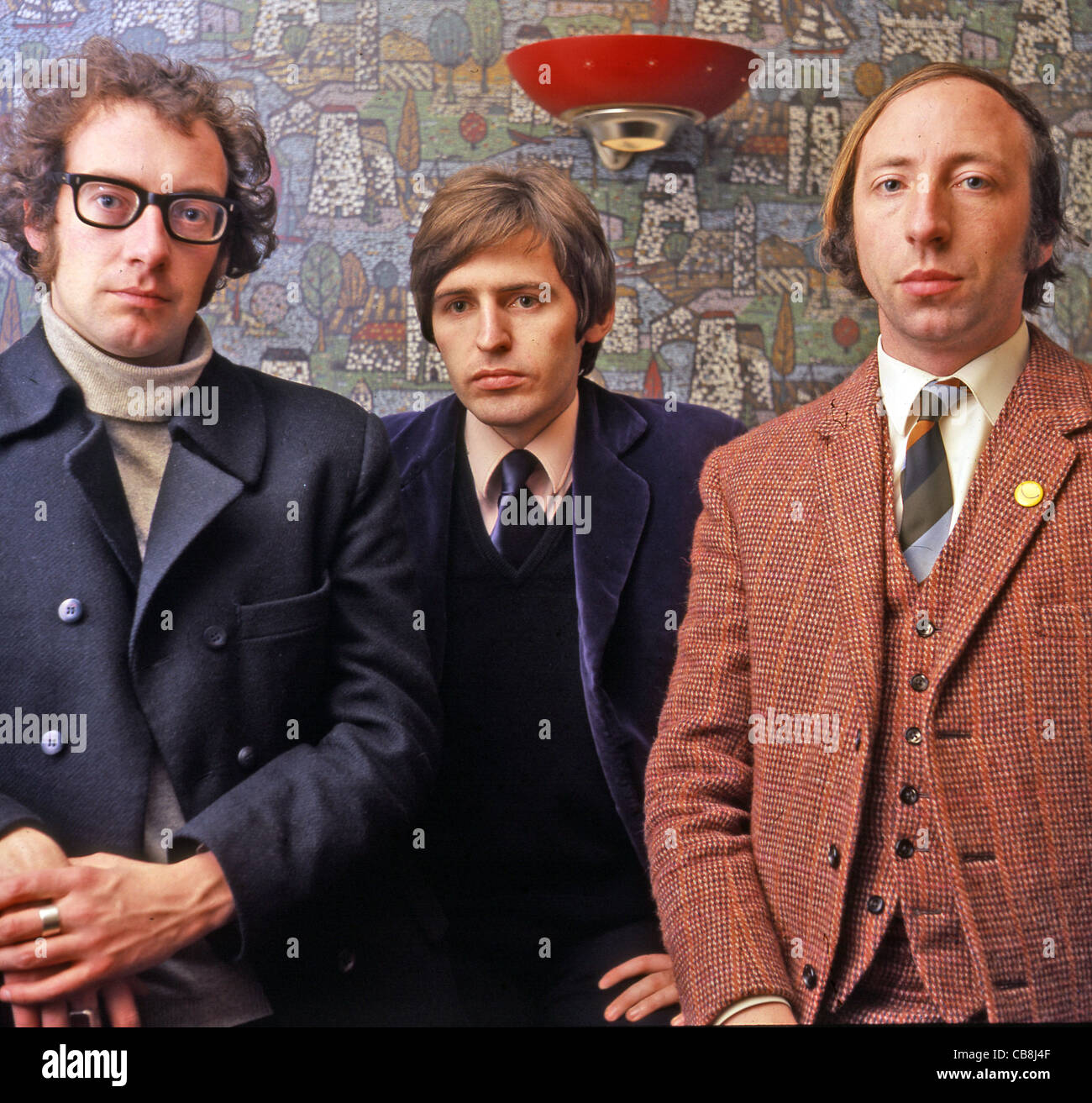 SCAFFOLD UK pop trio in December 1967 from left: John Gorman, Mike McGear and Roger McGough. Photo Tony Gale Stock Photo