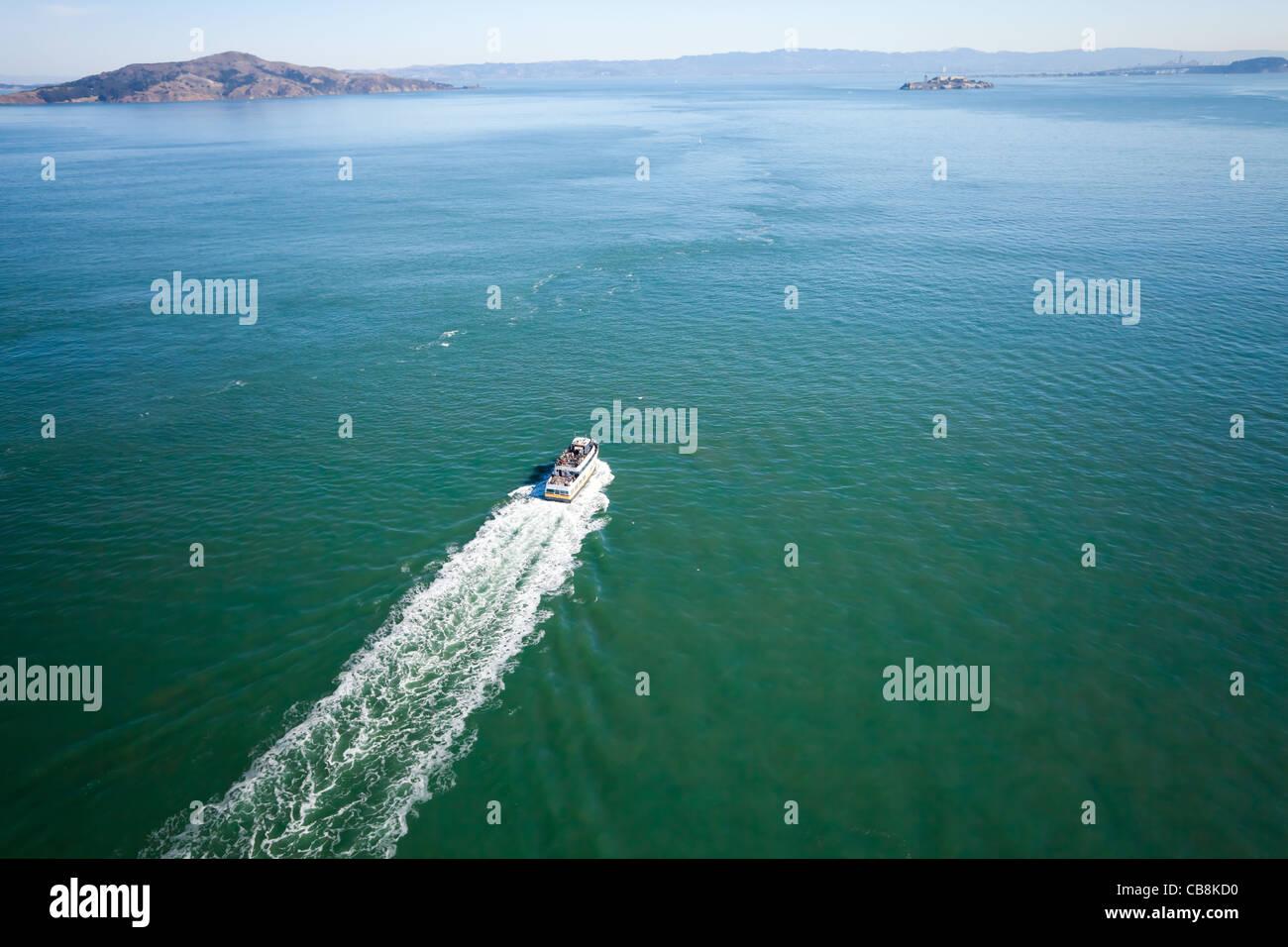 San Francisco bay and Alcatraz - Stock Image