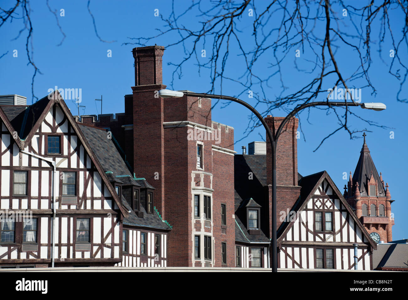 German style architecture in Urbana-Champaign, Illinois - Stock Image