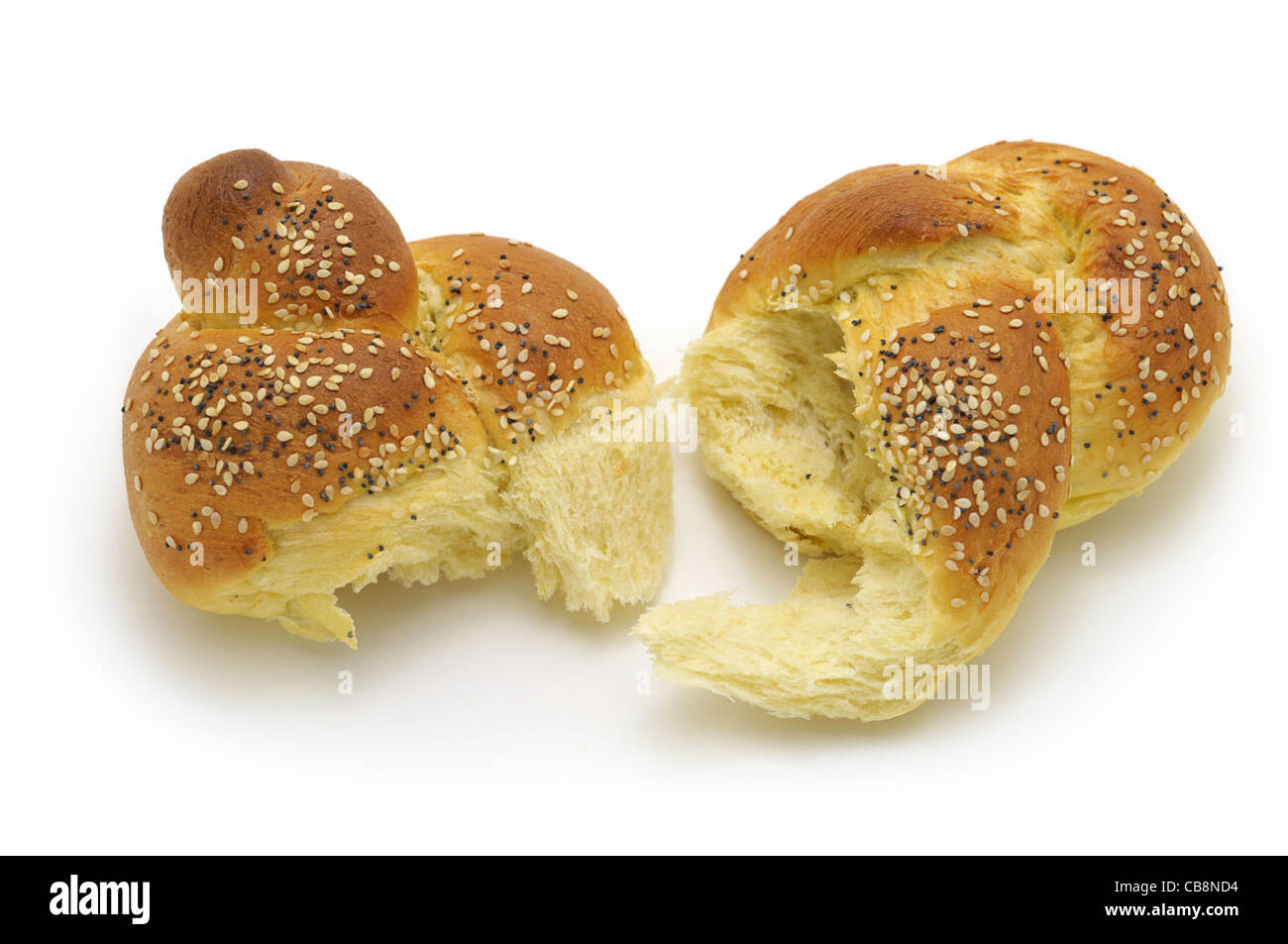 Twist, 'Egg Twist' Bun, Bread - Stock Image