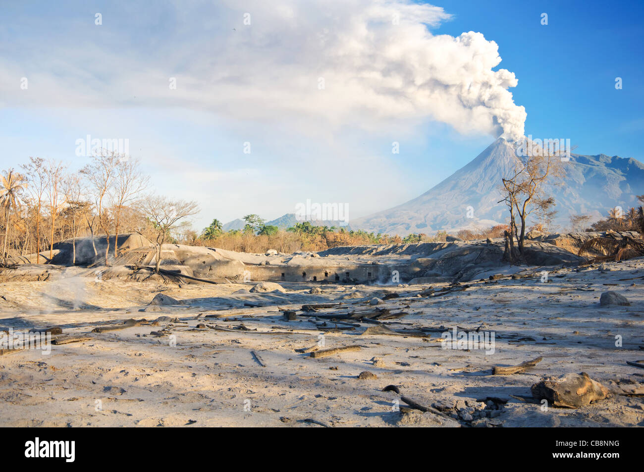 volcano eruption - Stock Image