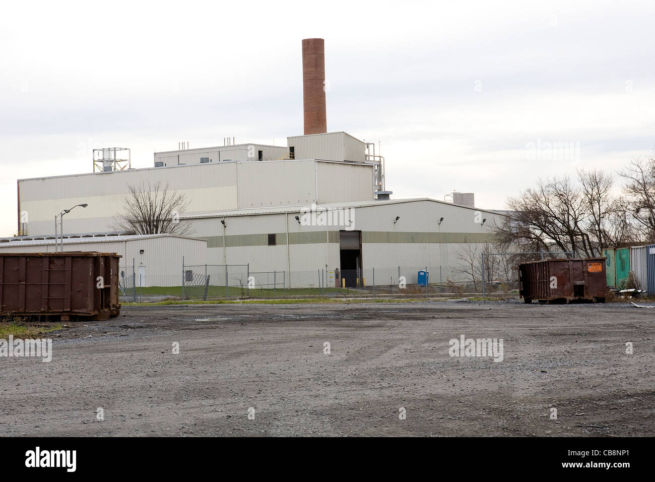 A view of the Harrisburg, Pennsylvania trash incinerator.  - Stock Image